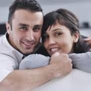 Happy Brunette Couple